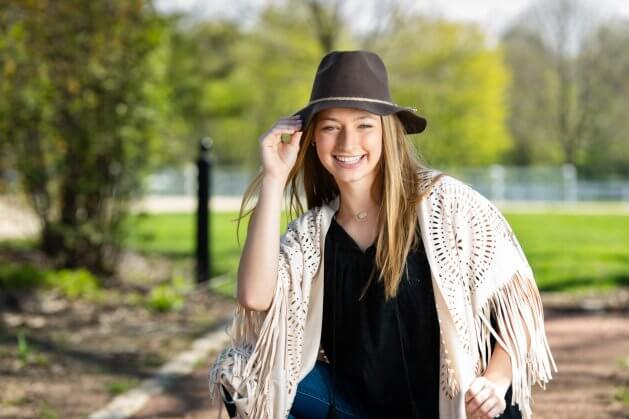 Danada senior session by deb wesley photography featuring cora